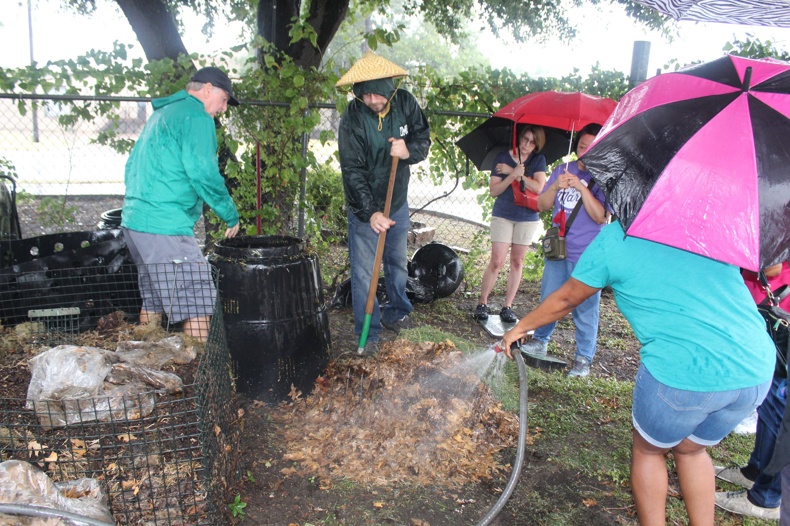 How to backyard compost class held at Garland Recylcing Center