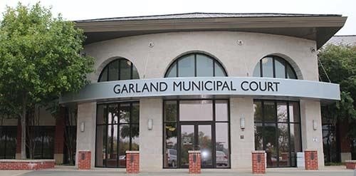 photo of front of Garland Municipal Court building
